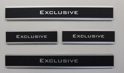 Einstiegsleisten für HYUNDAI ix20 bis 2018 CARBON ALU mit Abkantung Exclusive