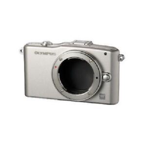USED-Olympus-E-PM1-12-3MP-Body-Silver-Excellent-FREE-SHIPPING