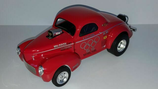 Polished Drag Wheels and Tires 4 Pcs Set From 1941 Gasser 1//18 by Acme A1800908w for sale online
