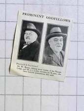 1928 Prominent Odd Fellows Mr W Brown Phoenix Lodge Mr J Luker