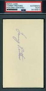 Tommy Prothro UCLA PSA DNA Coa Autograph Hand Signed 3x5 Index Card