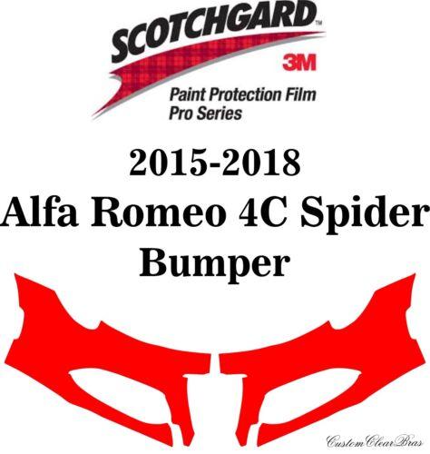 3M Pro-Series Paint Protection Film 2015 2016 2017 2018 Alfa Romeo 4C Spider