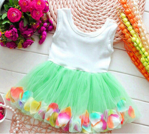 Toddler Baby Girls Lovely Princess Party Skirt Tutu Lace Bowknot Flower Dress