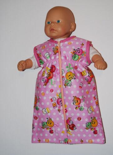 Puppenschlafsack,Bonbon,für 36cm große Puppen zB.my first Annabel Puppenkleidung Puppen & Zubehör
