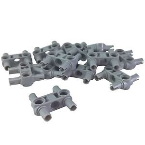 LEGO Lot of 4 Dark Bluish Gray 3L Technic 2 Hole Connector Pieces