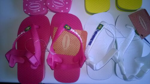 EU 22 Havaianas Child Brazil Kids Flip Flop Beach Sandals Choice of 2 UK 5