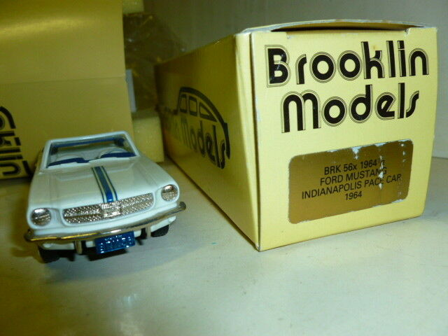 Die cast 1 43FORD MUSTANG INDIANAPOLIS PACE CAR 1964 BROOKLIN MODELS BRK56X 1 2