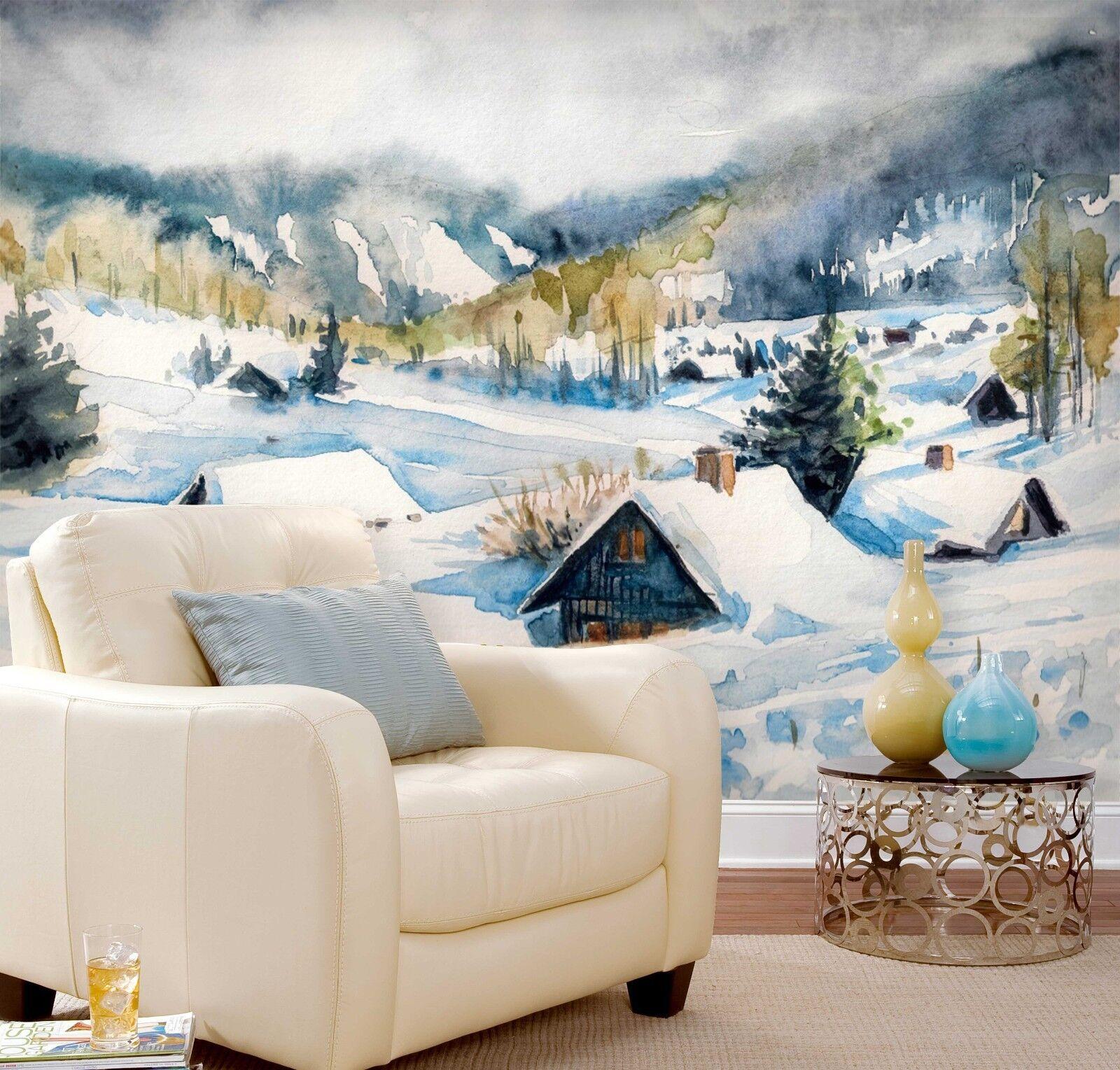 3D Winter Landschaft Freien 798 Tapete Wandgemälde Tapeten Bild Familie DE Lemon  | Genial  | Hochwertige Produkte  | Einfach zu spielen, freies Leben