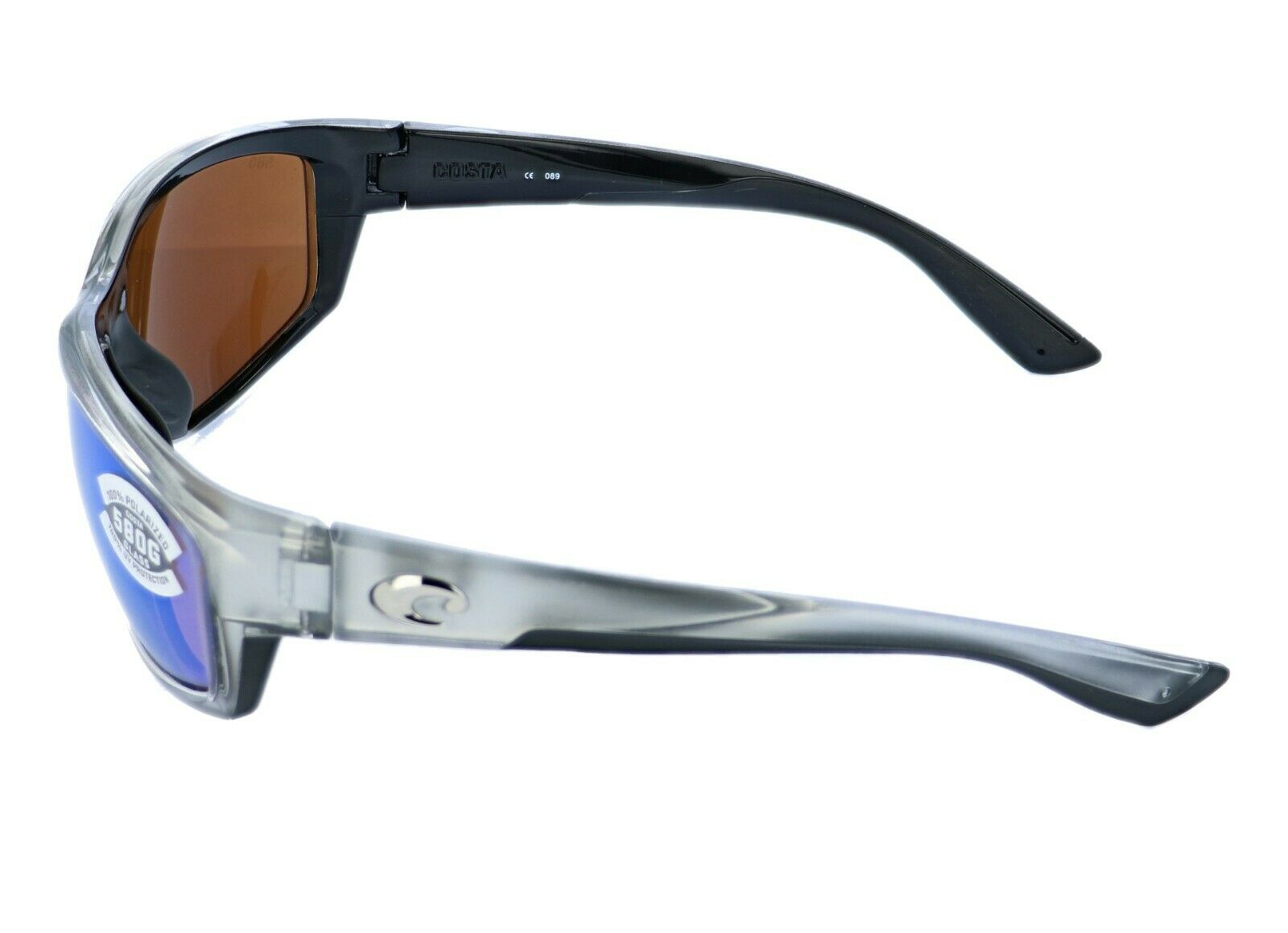 Costa Del Mar Saltbreak Sunglasses BK-18-OGMGLP SilverGreen Mirror 580G Polar