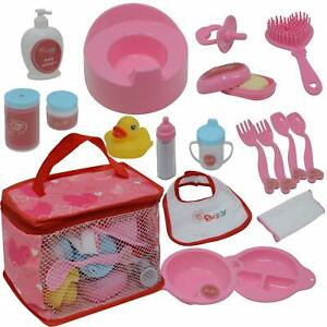 The New York Doll Collection Baby Doll Feeding & Caring Accessory Set