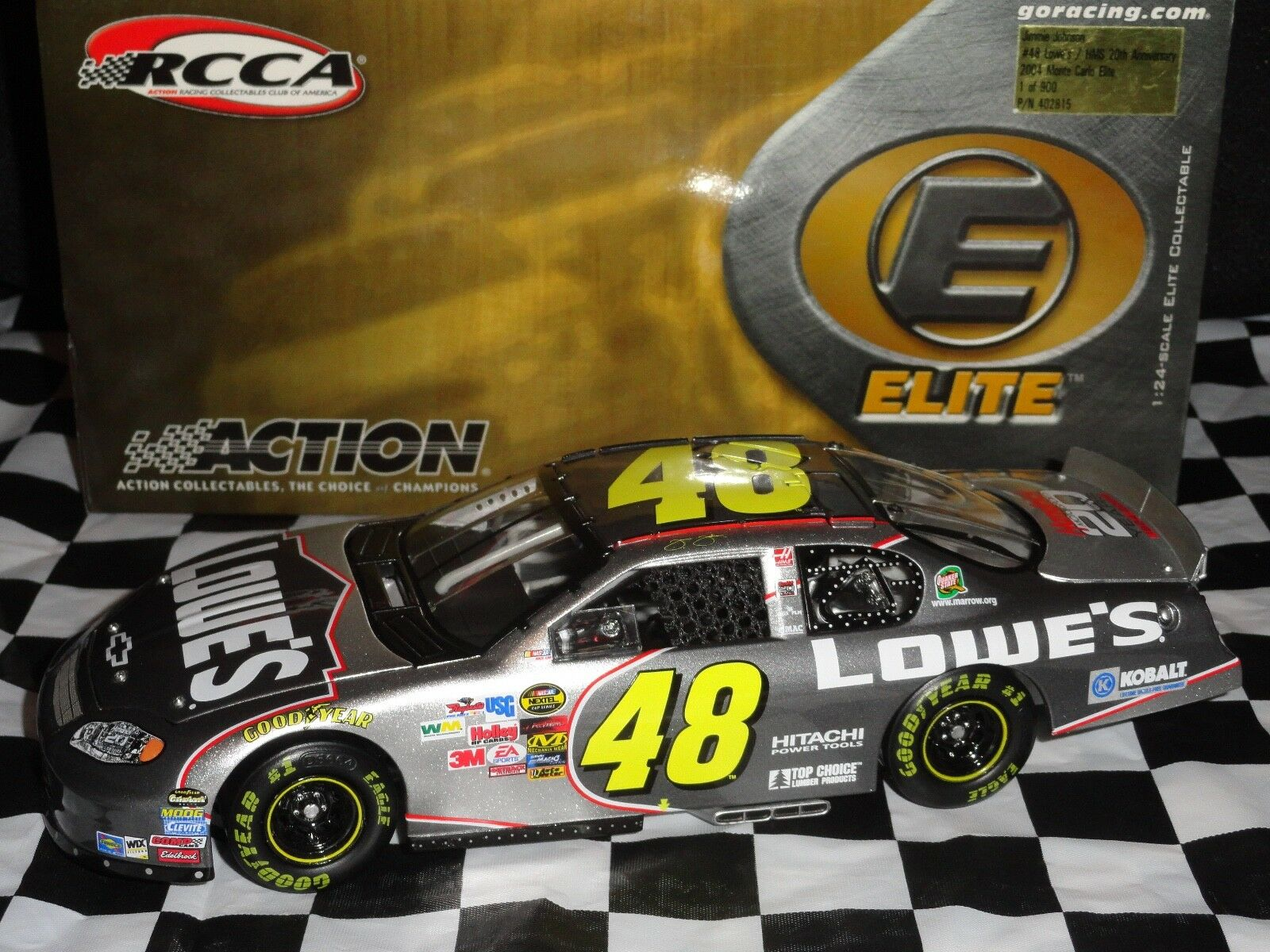 JIMMIE JOHNSON 2004 MONTE CARLO HMS 20TH ANNIVERSARY ELITE  (SEE DESCRIPTION)