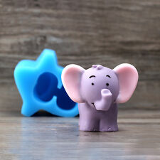 3D Elephant Soap Molds Silicone Chocolate Mould Cake Decorating Ice Cream Tray