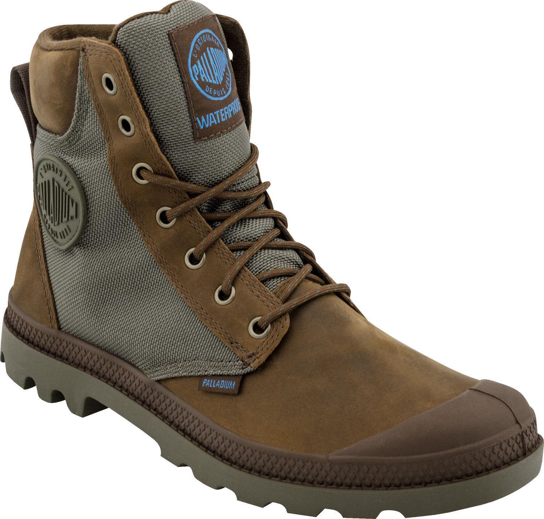 Para Hombre Palladium botas Impermeable Pampa Sport Puño wpn Bridle marrón   Luna Mist