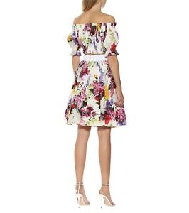 745-Dolce-amp-Gabbana-AUTH-NEW-Mixed-Floral-Poplin-Elastic-Band-Flared-Skirt-46