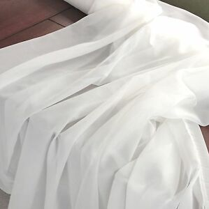 2-5-Meters-Soft-Cotton-Voile-fabric-44-039-039-wide-Curtain-dress-Lining-Fabric-white