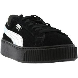 Puma-Shoes-for-Women-Silver-Black-SUEDE-PLATFORM-EXPLOS-B-Women-And-Girls-Sizes
