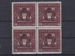 1926-Nibelungensage-ANK-490-die-15-5g-Lilarot-4er-Block-Postfrisch-MNH