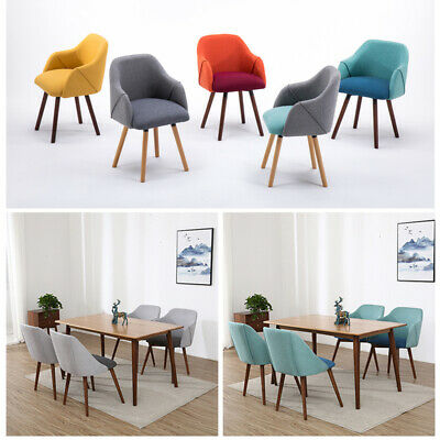 1 2pcs Dining Solid Wood Legs Arm, Dining Room Chairs With Arms