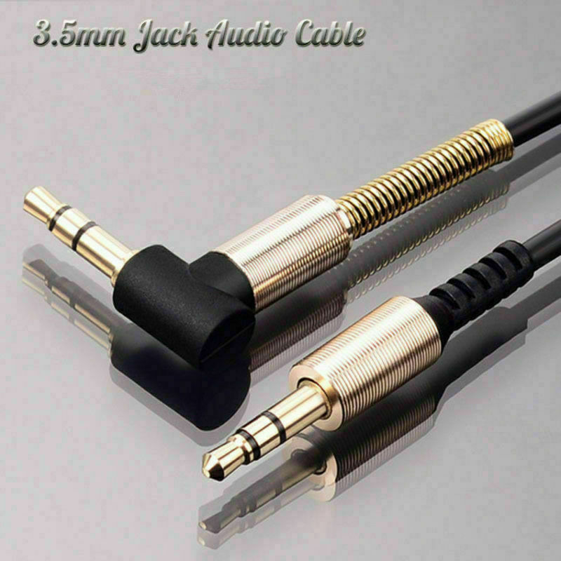 2m 6ft Stereo Aux Spring Cable 3.5mm Male to Male M//M Jack Audio iPod MP3