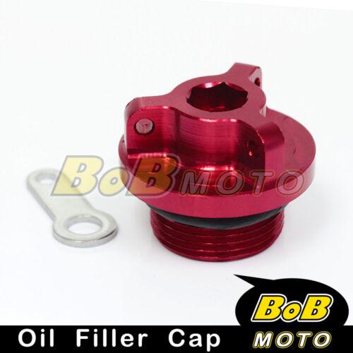 Red Billet CNC Oil Filler Cap For Kawasaki ZX6 ZX6R ZX6RR 636 06-12 13