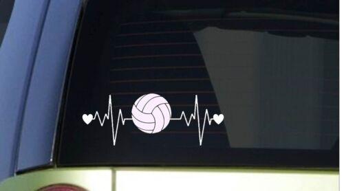 """Volley-Ball Heartbeat Lifeline I263 8 /"""" Large Autocollant Décalque Pointe Set"""