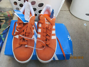 Details about new adidas Originals Campus Men's Sneakers Sports orange suede Shoes sz 8 bin 12