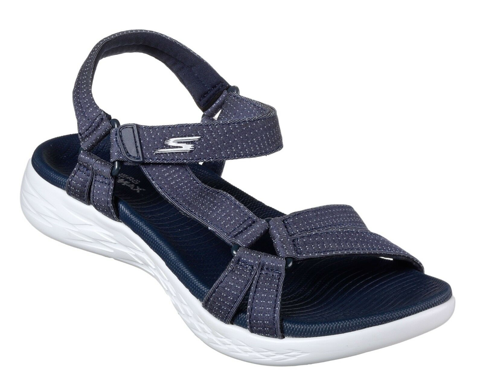 Último gran descuento Skechers NEW On The Go 600 Brilliancy navy comfort strappy sandals sizes 3-8