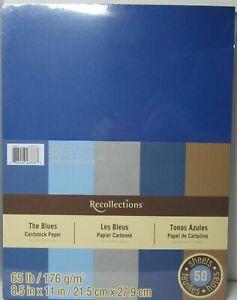 Recollections-Cardstock-Carta-8-1-5-1cm-x-27-9cm-50-Fogli-29-5kg-5-Color-il-Blu