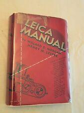 1940, Leica Manual and Data Book, 3rd Ed/3rd Print, HBw/dj, VG