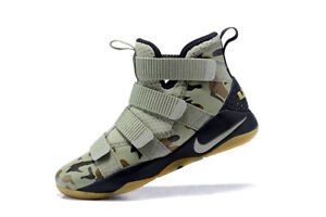 MENS-NIKE-LEBRON-SOLDIER-XI-11-034-SFG-034-OLIVE-CASUAL-SNEAKERS-SHOES-897644-200-10