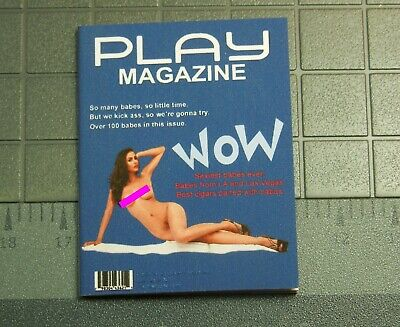 1//12 scale Custom Playboy style DUKE NUKEM Play Magazine-No Pages Vierges