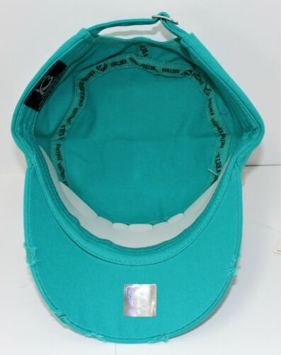 Ladies Bling Cap Military Style Distressed Owl White Tan Turquoise Brown Pink