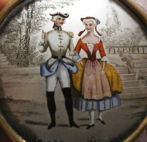 Boite-a-bonbons-dragees-epoque-Restauration-Miniature-sous-verre-eglomise