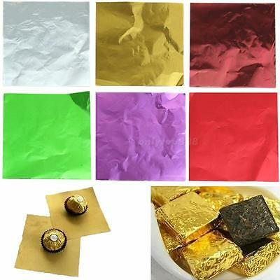 Cute 100pcs Sweets Candy Package Foil Paper Chocolate Lolly Foil Wrappers OT8G