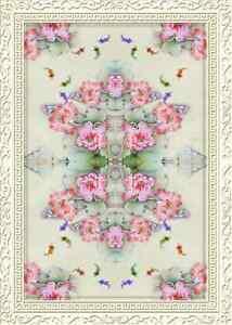 3d Mode Fleur Fond D'écran étage Peint En Autocollant Murale Plafond Chambre Art Riche Et Magnifique