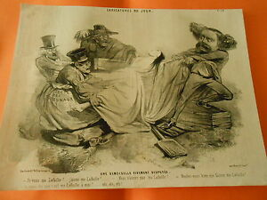 Litho-19eme-Une-demoiselle-vivement-disputee-Ma-Lafaille