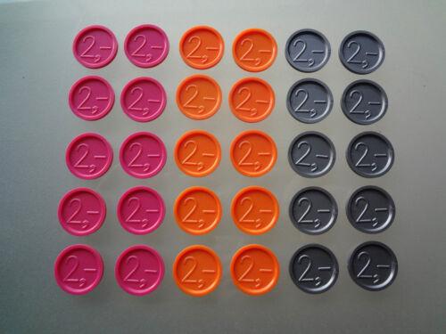 Gravur Ekw 13 Wertmarken Pfandmarken  Einkaufswagenchips Event mit einer 2,