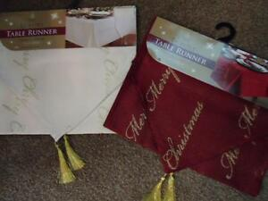 Merry-Christmas-Xmas-luxury-red-or-gold-table-runner-approx-33cm-x-183cm