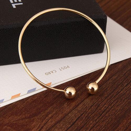 Gold Silver Double Ball Adjustable Open Bracelet for Girls Women Favor Gift CB