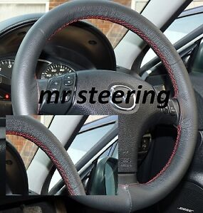 Image Is Loading Fits Mazda Rx8 Real Black Grain Leather Steering