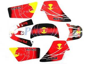 3M GRAPHICS DECAL STICKERS SET YAMAHA PW50 PEEWEE PW 50 RED M DE63