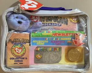 TY BEANIE BABY Platinum CLUBBY II Membership Kit NEW Unopened CARDS COIN & BEAR