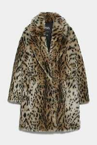 ZARA-SOLD-OUT-ANIMAL-PRINT-FUR-COAT-LEOPARD-SIZE-S