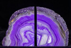 7-4lbs-Agate-Bookends-Geode-Crystal-Polished-Brazil-Specimen