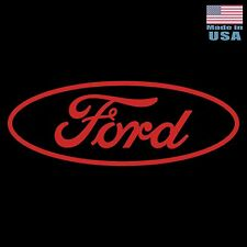 "Large 30"" Ford Vinyl Decal -RED- Car Truck Adhesive Window Sticker FOMOCO Logo"