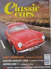 Classic Cars 01/1994 featuring Jensen 541, Aston Martin DBR1, Austin Healey