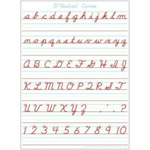 "Ashley Smart Poly®  Dry Erase Mat Manuscript Handwriting 13/"" X 9.5/"" ASH95309"