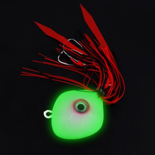 150g Luminous Fishing Jig Lead Lure Silicone Skirts Jig Bait Lead Head for Sea