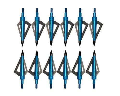 6 To 24 chasse Broadheads Champ Conseils large tête 100 G Tir à L/'Arc Flèches Conseils.