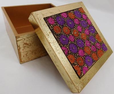 Trinket Box in Orange /& Purple